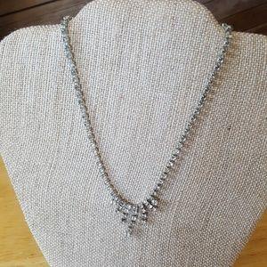 Classic vintage rhinestone necklace